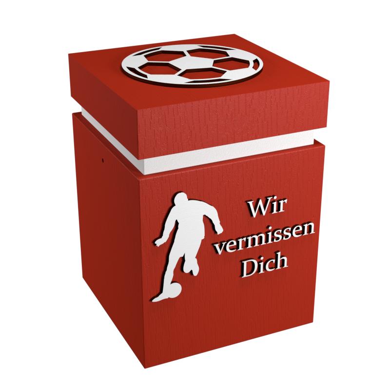 Fussball Urne Rot Weiss Wir Vermissen Dich
